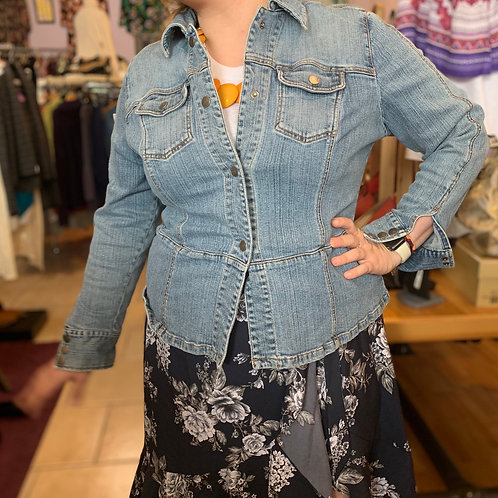 Denim Jacket cotton/spandex sz 14/16