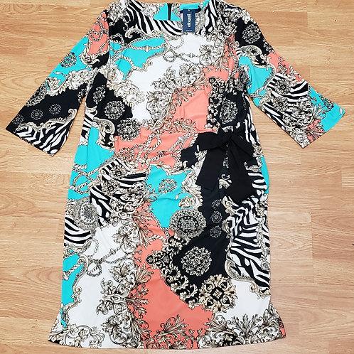 Eloquii Printed Dress  Size 22W NWT