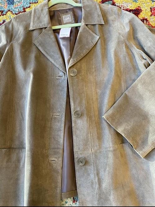 J Jill suede coat XL