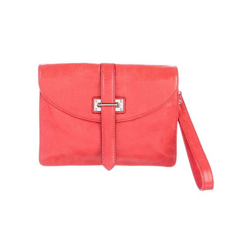 MZ WALLACE Camille Coral Leather Crossbody Bag