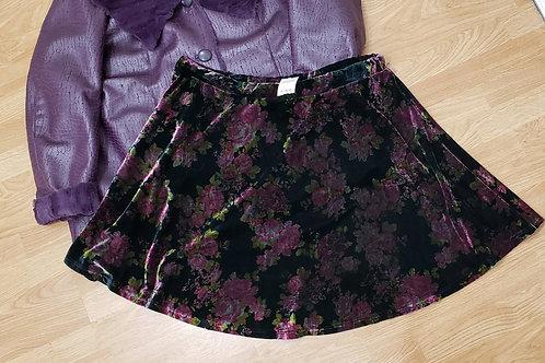 American Rag Floral Velvet Skirt Size 3X