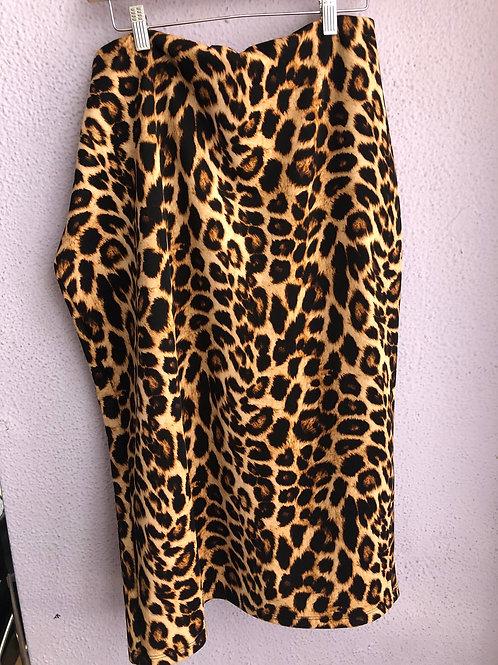 Ashley Stewart Leopard Print Pencil Skirt 3X