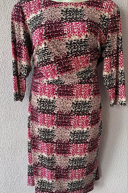 Long Sleeve pink Dress Sz 18