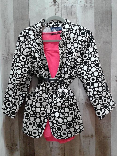 NWT Susan Graver Mod Print Jacket/Shacket 1X