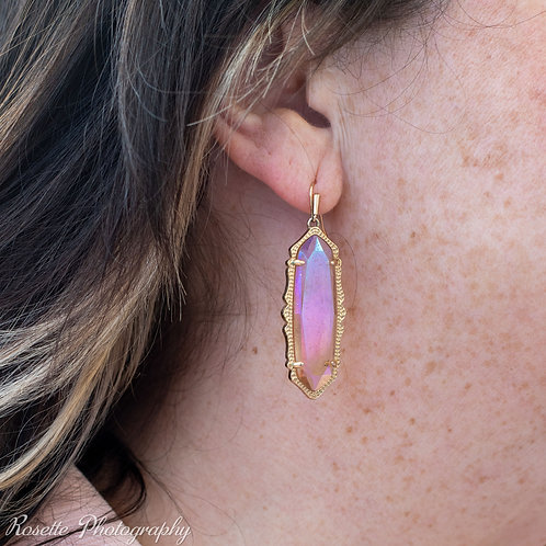 New Kendra Scott Iridescent Dangle Earrings