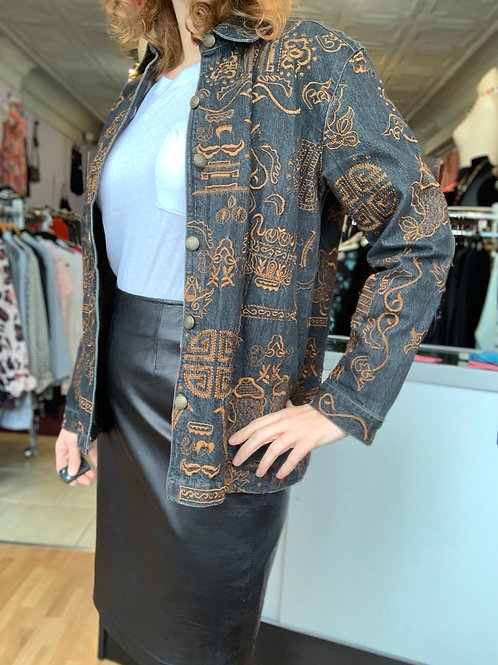 Chico's embroidered jacket