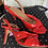 Thumbnail: ASOS red patent heeled sandals size 8