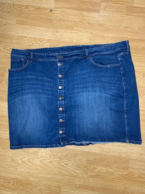 Button Up Denim Skirt Sz 28