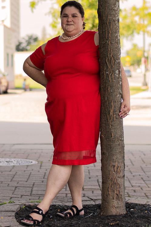 Lane Bryant Cold Shoulder Midi Dress sz 22