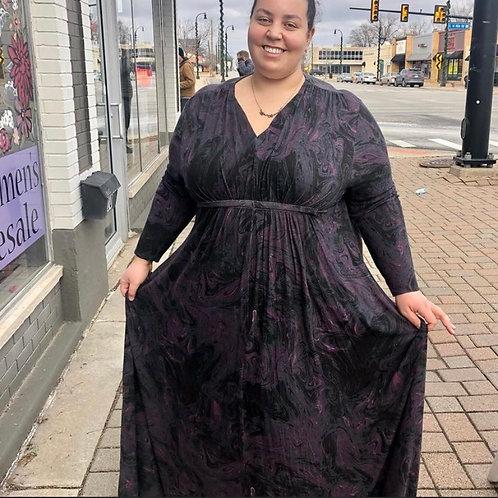 Long Sleeve Maxi Dress Sz 3x