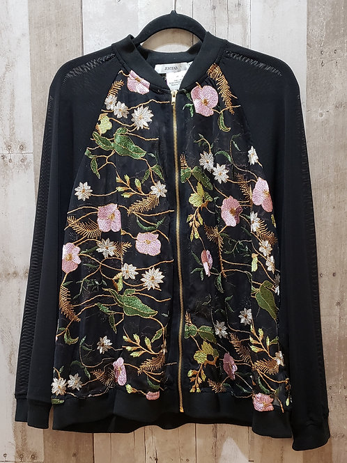 Just Fab Floral Embroidered Jacket  Size 3X
