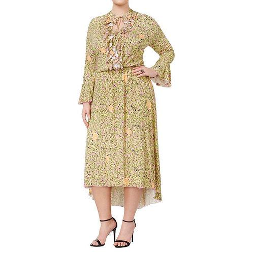 Melissa McCarthy Floral Ruffle Dress Sz 3x
