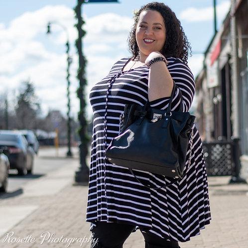 Boutique + Striped Dress/Tunic Size 3X