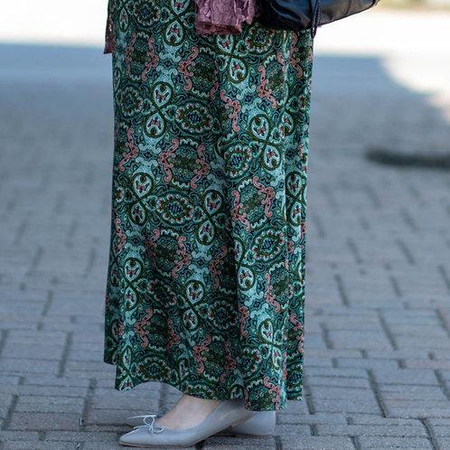 LuLaRoe Green Print Maxi Skirt Size 3X