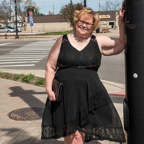 NWT City Chic Black Seduction Dress Size 18