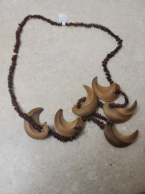 Bead and Wood Necklace