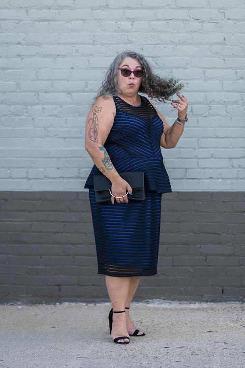 City Chic Peplum Cut-Out Dress Size 16