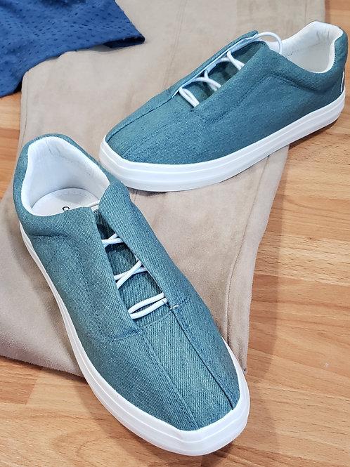 NIB Comfortview Denim Bungee Slip-On Sneakers Size 7.5 Wide