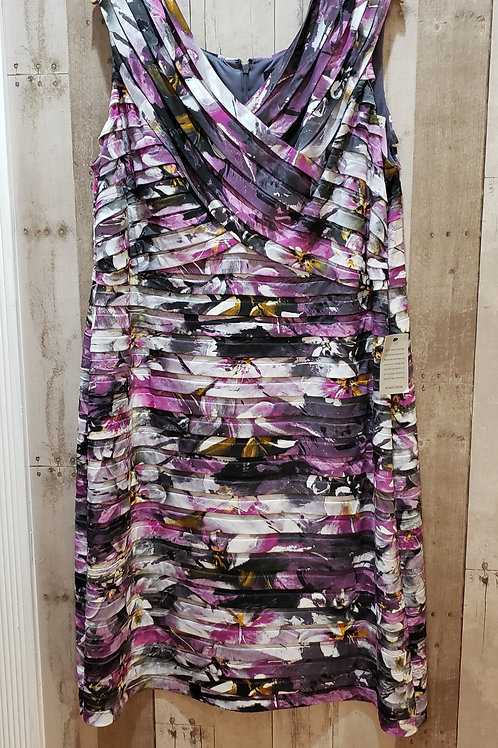 NWT Adrianna Papell Layered Floral Dress Size 24W