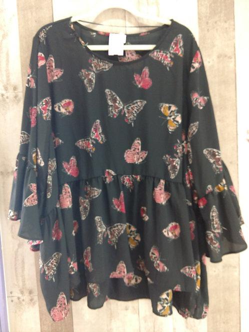 Cupio Butterfly Blouse Sz 3X