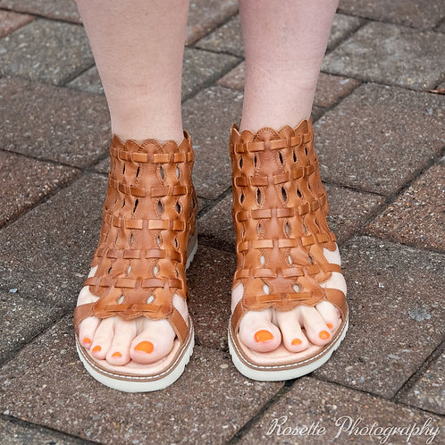 Pikolinos Leather Cutout Sandals Size10