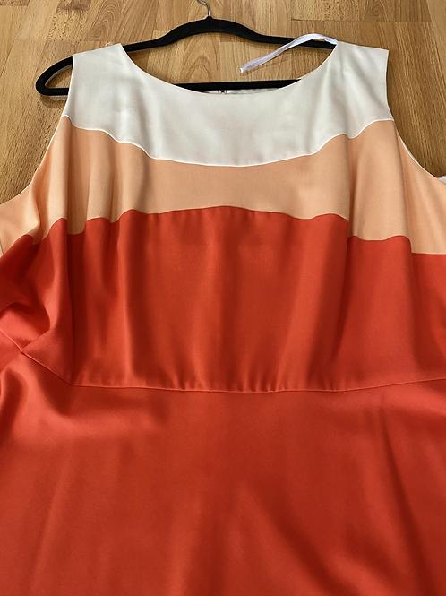 Dress barn colorblock dress size 24
