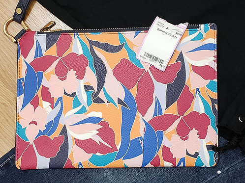 A New Day Floral Pebble Clutch