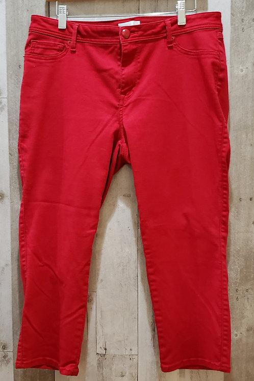 Westport Red Stretch Denim Capris Size 14