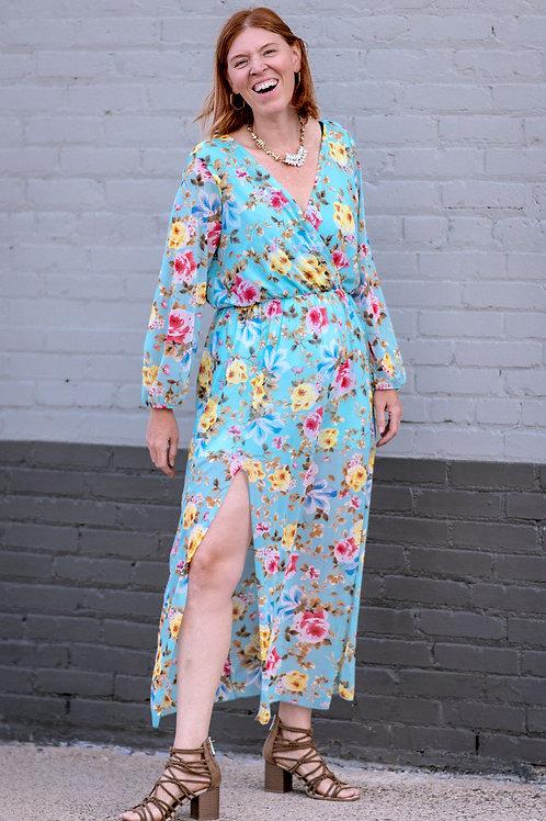 CHICSOUL.COM Floral Dress w/Attached Shorts Size Large