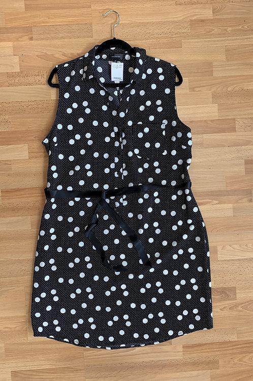 The Limited Polka Dot Button Front Shirt Dress Size XL