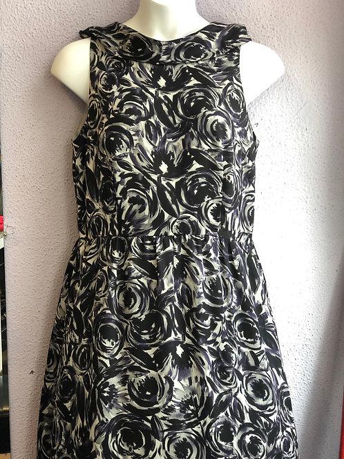 Ann Taylor Dark Florals Dress 14