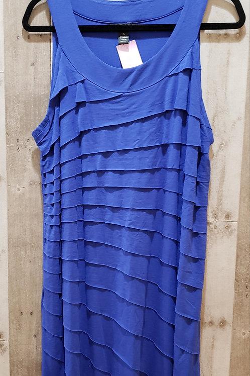 NWT Style & Co Blue Ruffle Stretch Tank/Dress Size XL