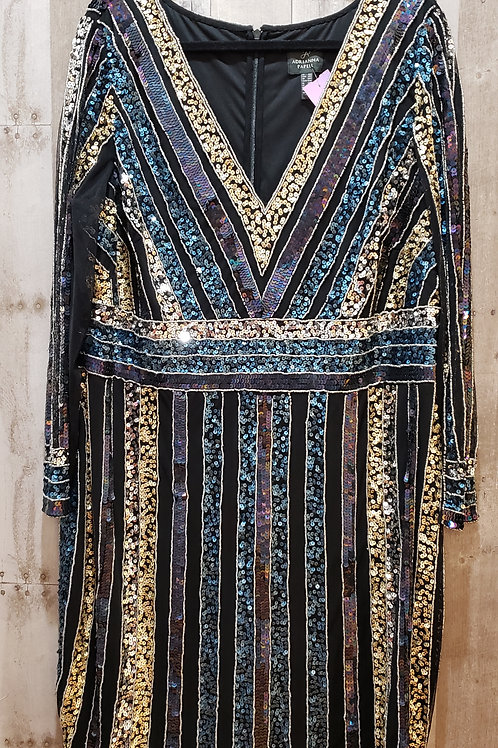 Adrianna Papell Sequin & Mesh Party Dress Size 18W