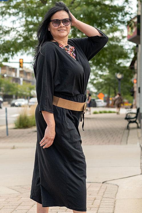 Asos Black Knit Jumpsuit sz 20