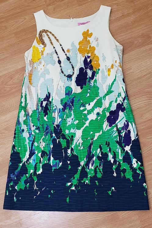 Eliza J Floral Watercolor Dress Size 12