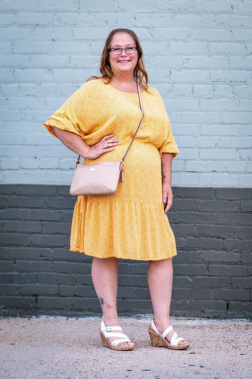 CHICSOUL.COM Marigold Ruffle Dress Size 16/18