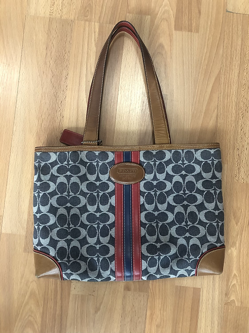 Coach Signature Denim Bag