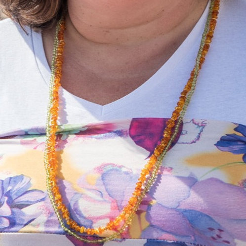 Semi-Precious Nugget/Bead Necklace Set