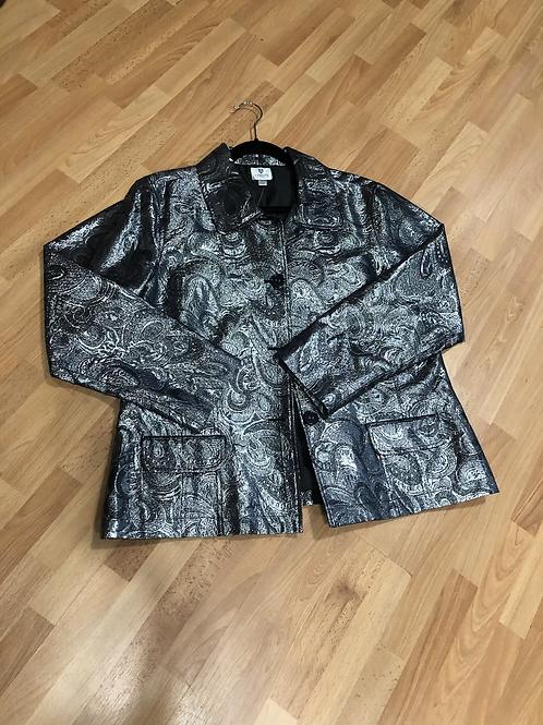 Chico's Silver Jacket-  NWT - SZ 3