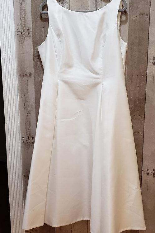 Adrianna Papell White Satin Dress Size 20