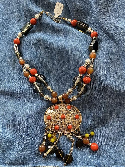 BoHo medallion necklace