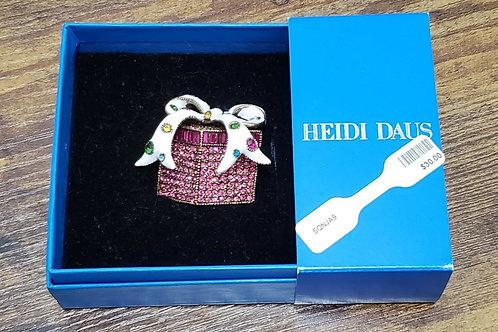 Heidi Daus Present w/Bow Brooch NIB