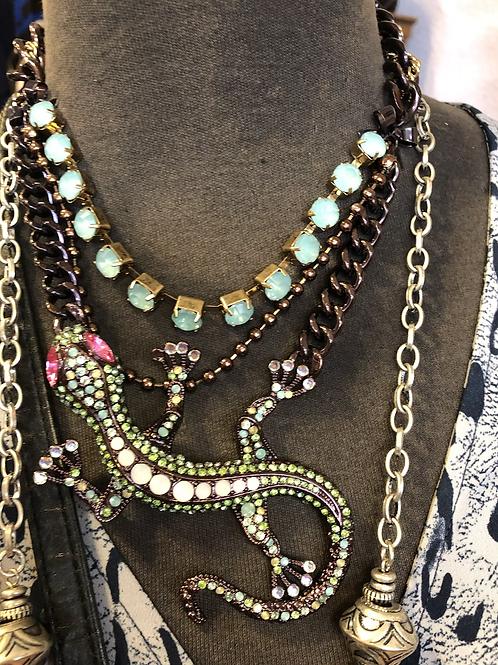Betsey Johnson Salamander Necklace