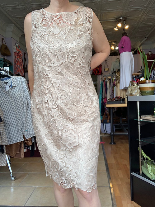 Champagne Dress 20W Adrianna Papell