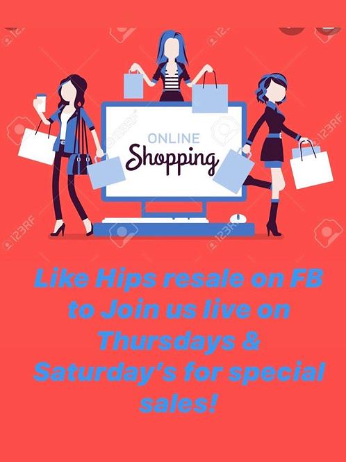 Hips resale boutique on Facebook