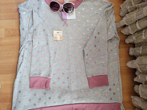 HoneyMe Sparkle Dot Sweatshirt sz XL