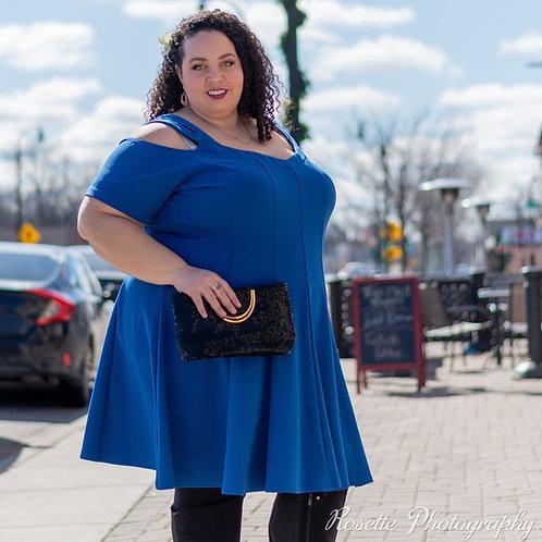 Lane Bryant Cold-Shoulder Dress Size 28
