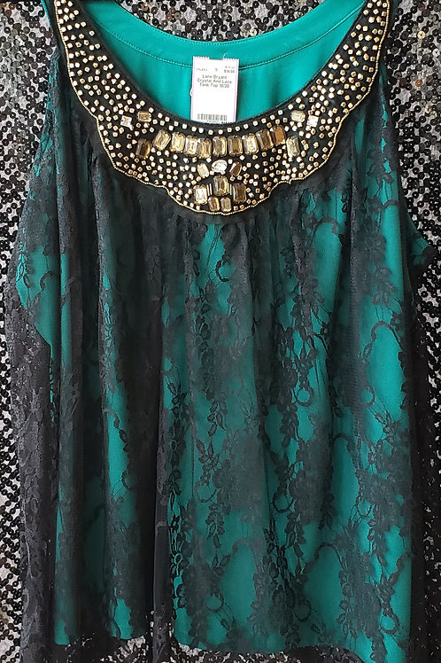 Lane Bryant Crystal and Lace Tank Size 18/20