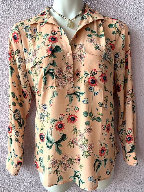 Ann Taylor floral long sleeve Sz L