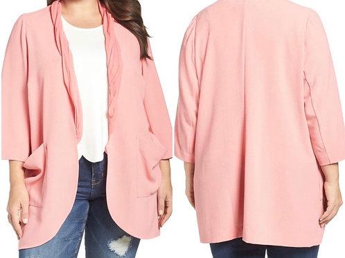 Crepe chiffon blazer with pockets Sz 3x